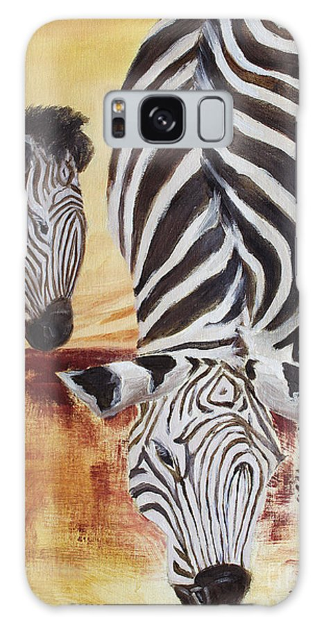 Animal Galaxy S8 Case featuring the painting Momma And Baby by Todd Blanchard