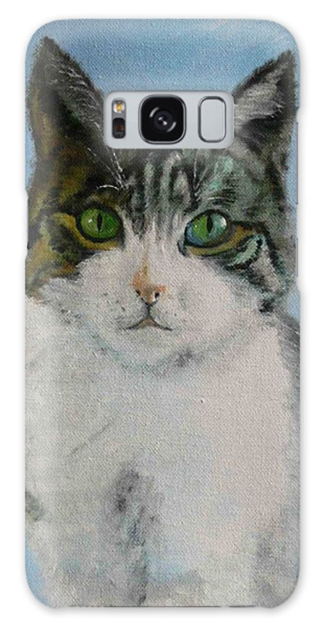 Tomcat Galaxy S8 Case featuring the painting Momo by Helmut Rottler