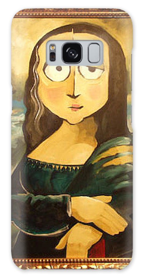 Galaxy S8 Case featuring the painting Mona In A Guilded Frame by Tim Nyberg