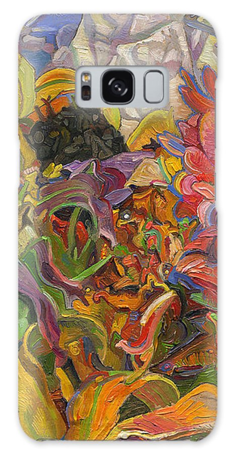 Flowers Galaxy Case featuring the painting Monarch Mountain by Juel Grant