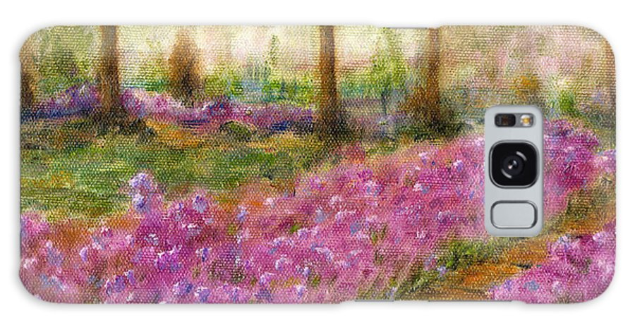 Monet Galaxy S8 Case featuring the painting Monet's Garden in Cannes by Jerome Stumphauzer