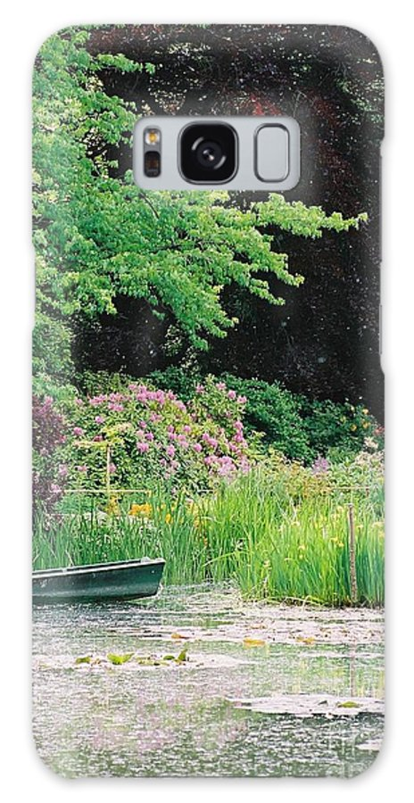 Monet Galaxy S8 Case featuring the photograph Monet's Garden Pond And Boat by Nadine Rippelmeyer
