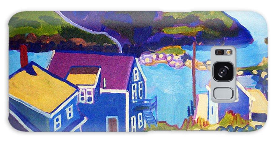 Seascape Galaxy Case featuring the painting Monhegan Harbor by Debra Bretton Robinson