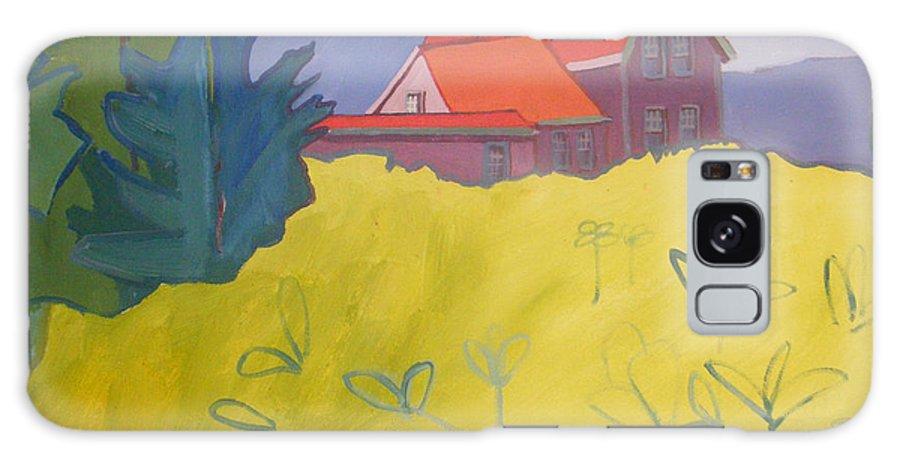 Lighthouse Galaxy S8 Case featuring the painting Monhegan Light by Debra Bretton Robinson