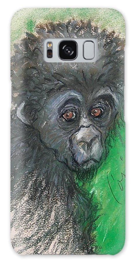 Monkey Galaxy S8 Case featuring the drawing Monkey Business by Cori Solomon