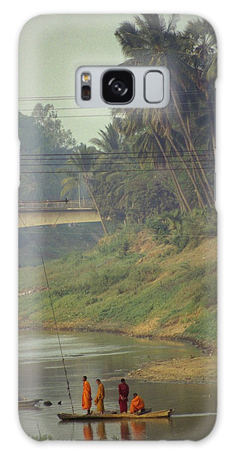 Monks Galaxy S8 Case featuring the photograph Monks - Battambang by Patrick Klauss