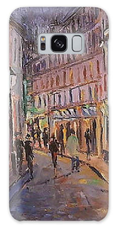 Paris Galaxy S8 Case featuring the painting Monmartre by Walter Casaravilla
