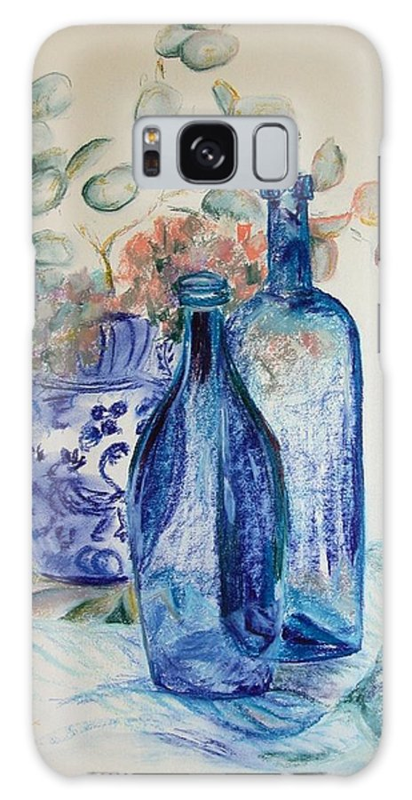 Still Life Galaxy S8 Case featuring the drawing Monnaie Bleue by Muriel Dolemieux