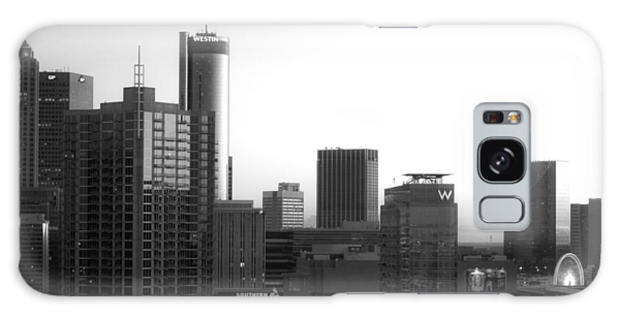 Black And White Galaxy S8 Case featuring the photograph Monochrome City by Mike Dunn