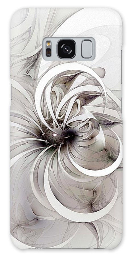 Digital Art Galaxy S8 Case featuring the digital art Monochrome Flower by Amanda Moore