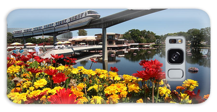 Flowers Galaxy S8 Case featuring the photograph Monorail At Disney's Epcot by Carl Purcell