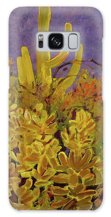 Desert Galaxy S8 Case featuring the painting Monsoon Glow by Julie Todd-Cundiff