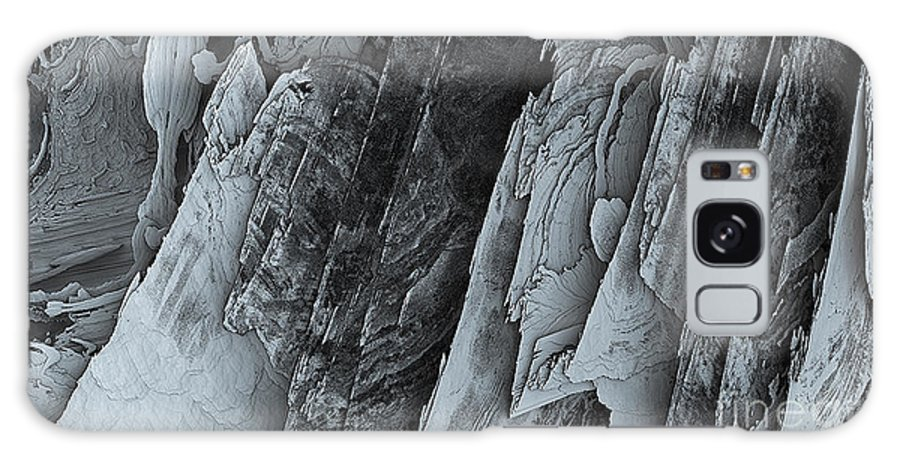 Bleu Galaxy S8 Case featuring the digital art Montagne by Degouges Cindy