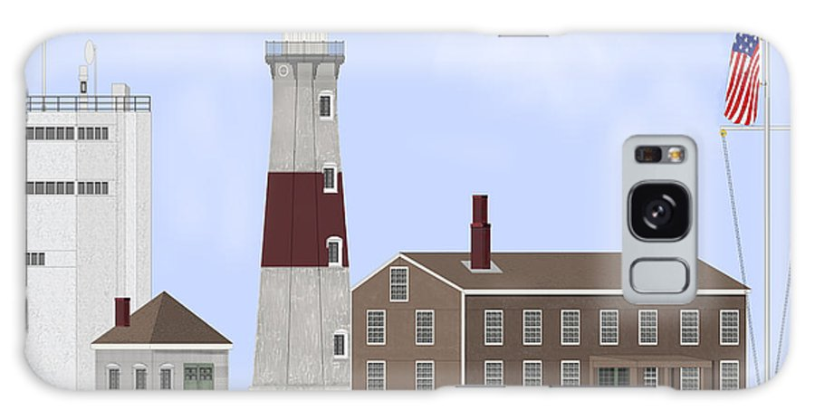 Montauk Lighthouse Galaxy Case featuring the painting Montauk Point Lighthouse Long Island New York by Anne Norskog