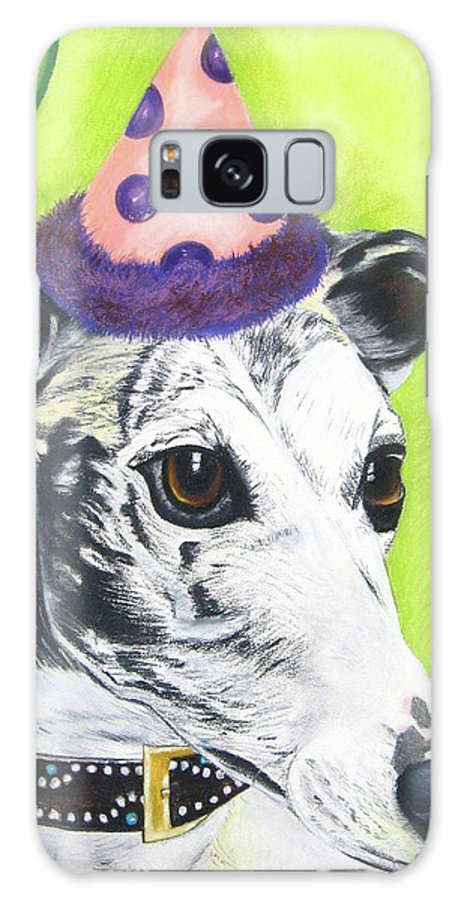 Dog Painting Galaxy S8 Case featuring the pastel Monte by Michelle Hayden-Marsan