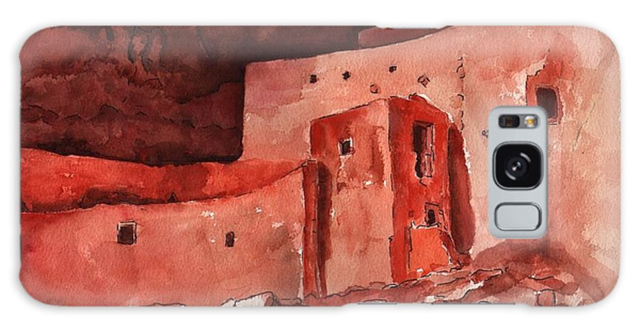 Cliff Dwellers Galaxy S8 Case featuring the painting Montezuma's Castle by Sharon Mick