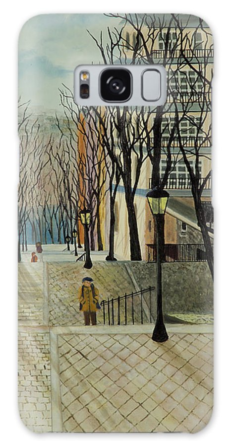 Paris Galaxy S8 Case featuring the painting Montmartre Steps In Paris by Susan Kubes