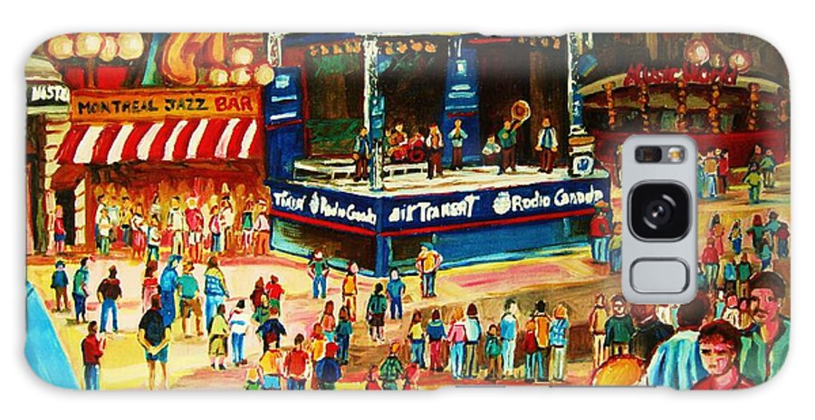 Montreal Galaxy S8 Case featuring the painting Montreal Jazz Festival by Carole Spandau