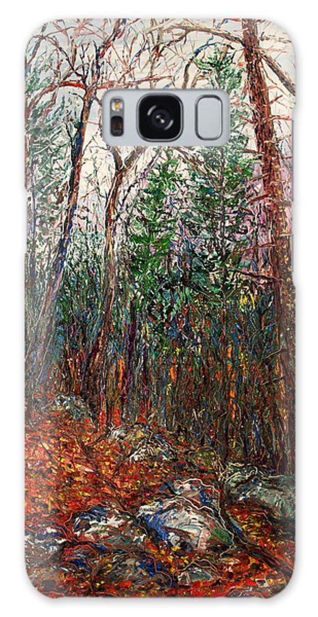 Landscape Galaxy S8 Case featuring the painting Montville Wood by J E T I I I