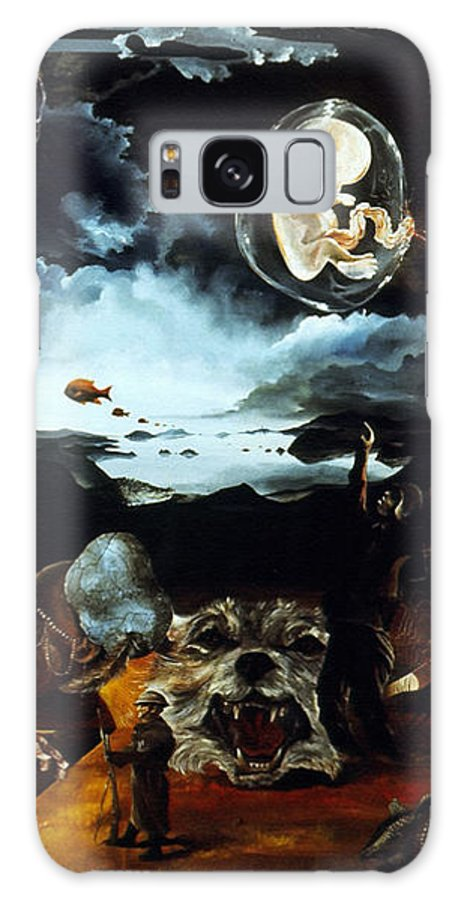 War Galaxy Case featuring the painting Monument To The Unborn War Hero by Otto Rapp