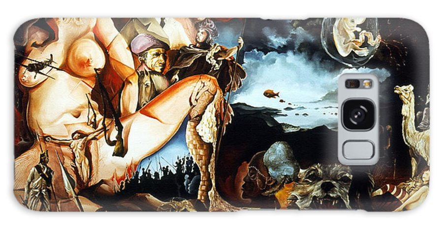 War Galaxy S8 Case featuring the painting Monument To The Unborn War Hero by Otto Rapp