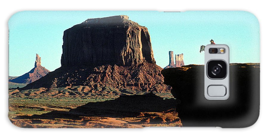 Man Galaxy S8 Case featuring the photograph Monument Valley by Carl Purcell