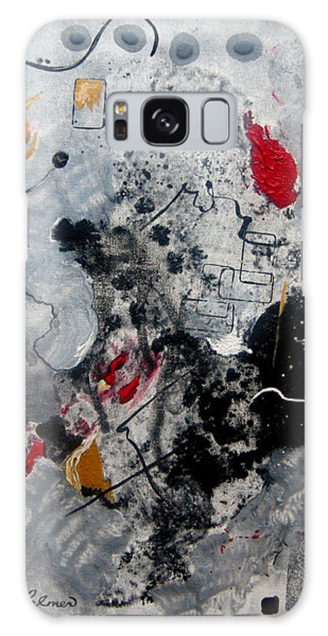 Abstract Galaxy S8 Case featuring the painting Moods II by Ruth Palmer