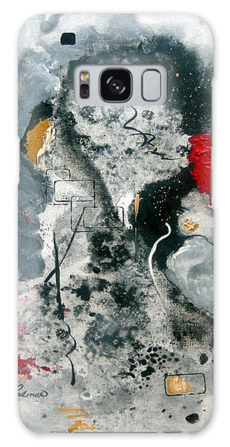 Abstract Galaxy Case featuring the painting Moods by Ruth Palmer