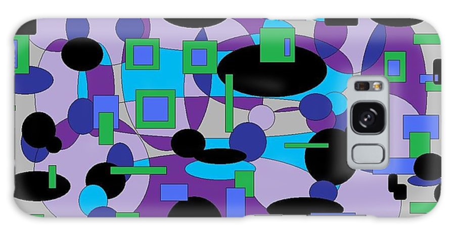 Digital Abstract Galaxy S8 Case featuring the digital art Moody Purple by Jordana Sands