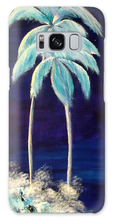 Palm Galaxy Case featuring the painting Moolight Beach by Susan Kubes