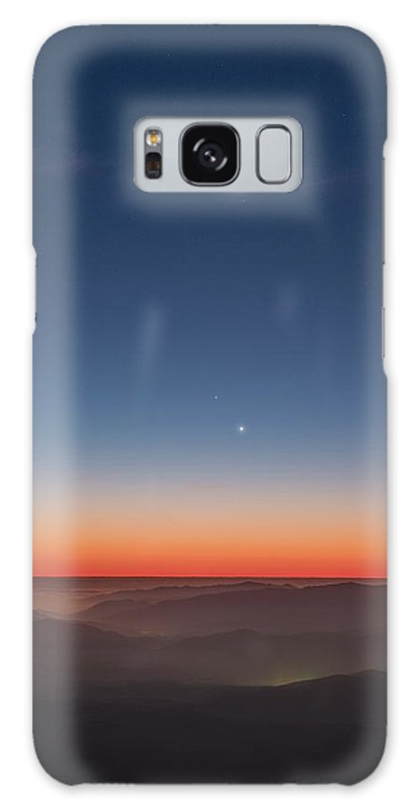 Landscape Galaxy S8 Case featuring the photograph Moon And Mercury by Yuri Beletsky