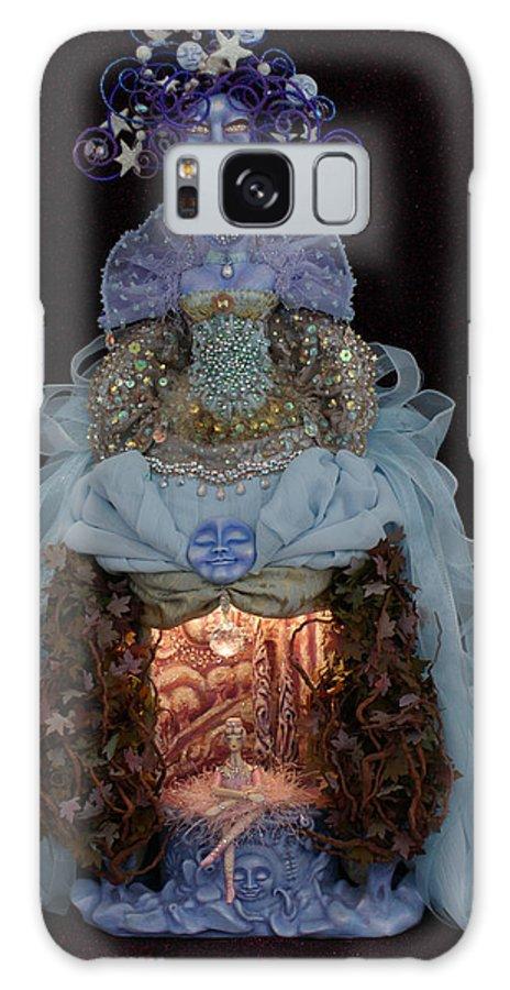 Moon Dreams Art Doll Galaxy S8 Case featuring the mixed media Moon Dreams by Judy Henninger