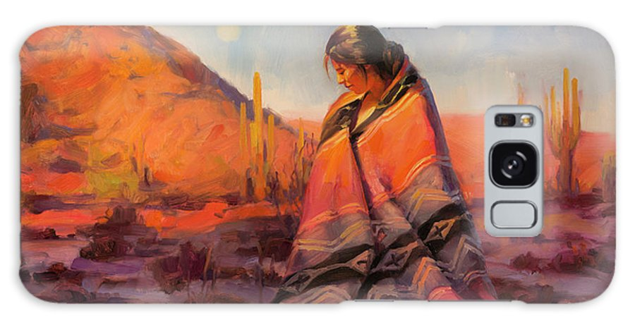 Southwest Galaxy S8 Case featuring the painting Moon Rising by Steve Henderson