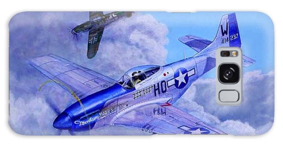 Capt Bill Wisner Shoots Down Two Bf-109s On November 2nd 1944 Galaxy Case featuring the painting Moonbeam Mcswine by Scott Robertson