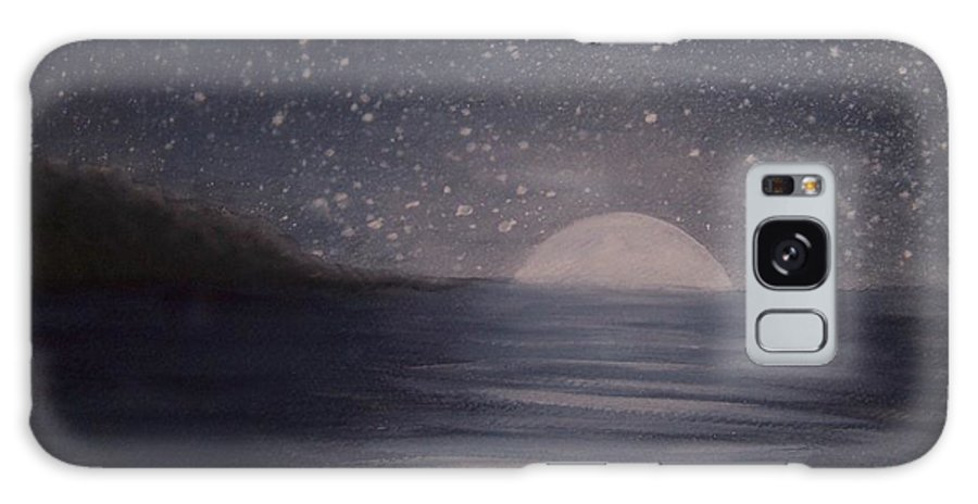 Ocean Galaxy Case featuring the painting Moonlight by Emily Young
