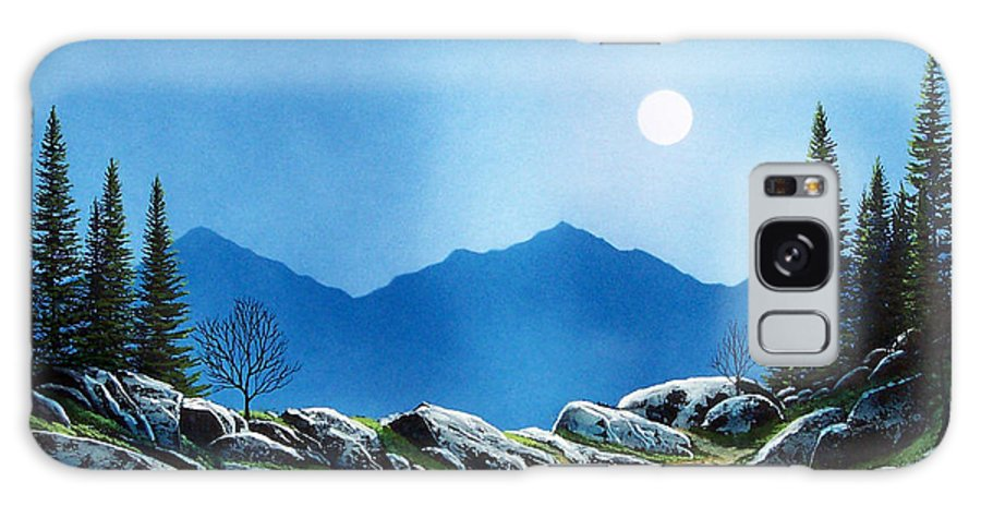 Landscape Galaxy Case featuring the painting Moonlight Hike by Frank Wilson