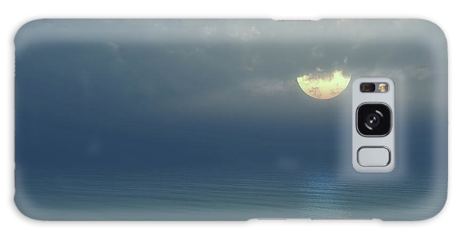 Moon Galaxy S8 Case featuring the digital art Moonlight Serenade by Georgiana Romanovna