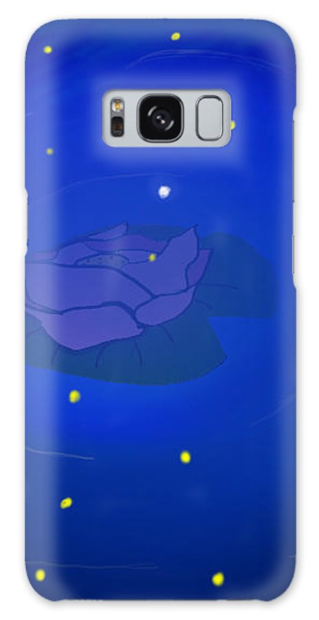 Rose In Water Galaxy S8 Case featuring the drawing Moonlight by Sofia Lechado