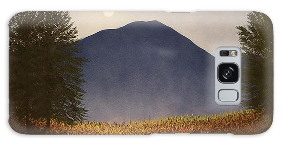 Mountains Galaxy S8 Case featuring the painting Moonlit Mountain Meadow by Frank Wilson
