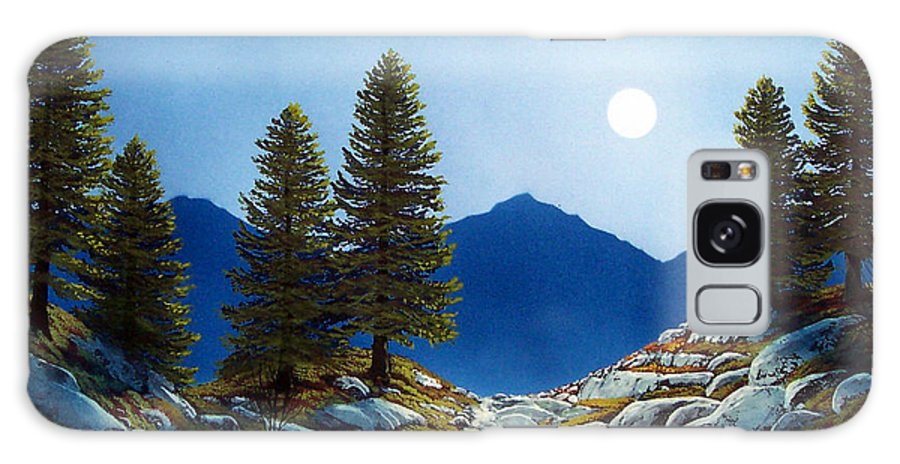 Landscape Galaxy S8 Case featuring the painting Moonlit Trail by Frank Wilson