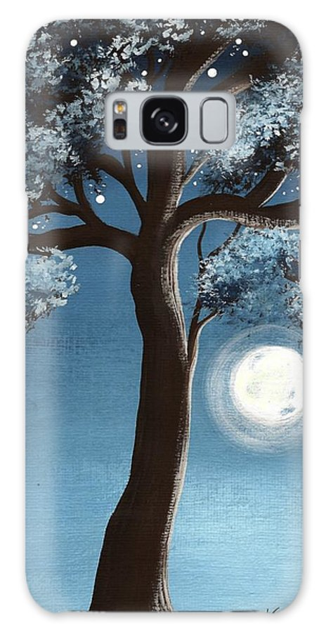 Tree Galaxy S8 Case featuring the painting Moonlit Tree by Katie Slaby