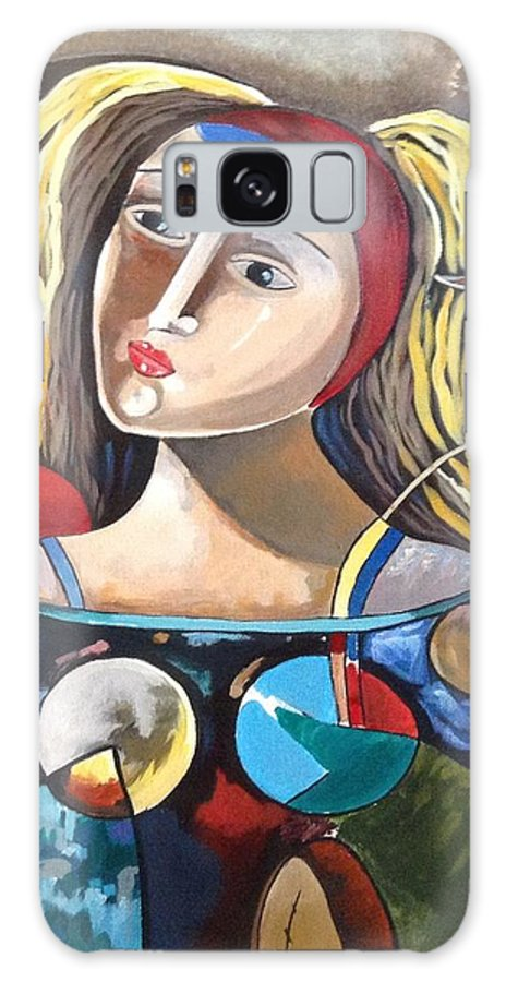 Women Galaxy S8 Case featuring the painting Moonnaki by Dag Monrabal