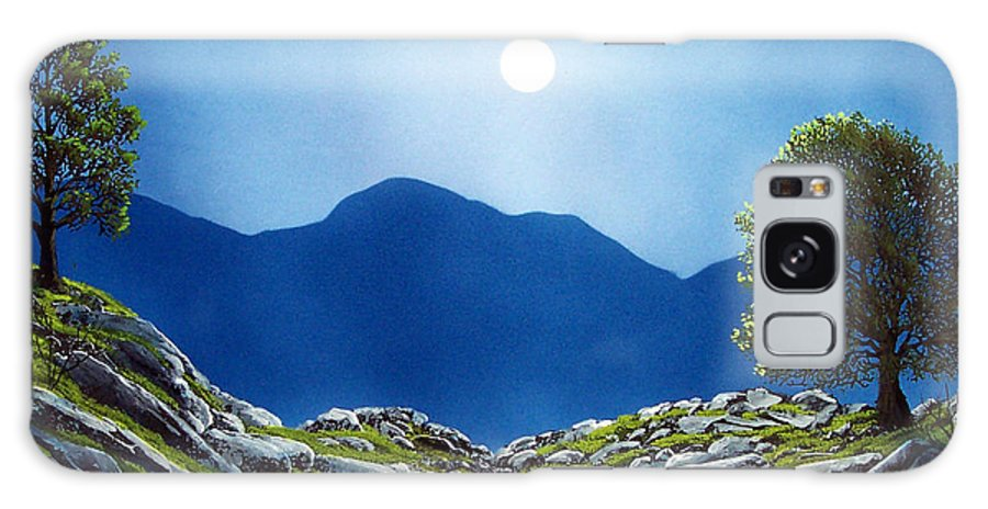 Landscape Galaxy Case featuring the painting Moonrise by Frank Wilson