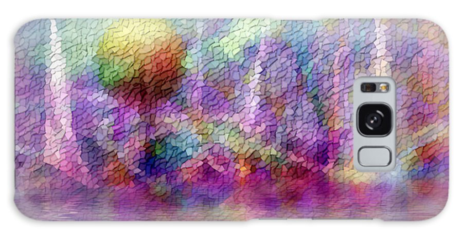 Moonrise Galaxy Case featuring the digital art Moonrise On Orchid Bay by Carolyn Staut