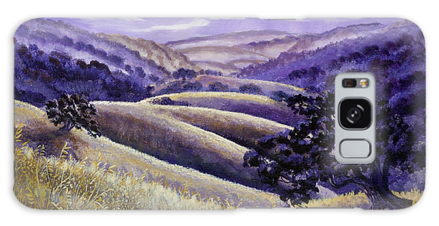Landscape Galaxy S8 Case featuring the painting Moonrise Over Monte Bello by Laura Iverson