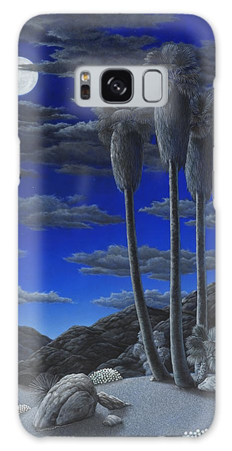 Desert Galaxy Case featuring the painting Moonrise by Snake Jagger