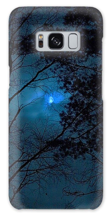 Lehtokukka Galaxy S8 Case featuring the photograph Moonshine 10 Blue Sky by Jouko Lehto