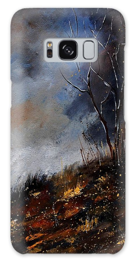 Winter Galaxy S8 Case featuring the painting Moonshine 45901190 by Pol Ledent