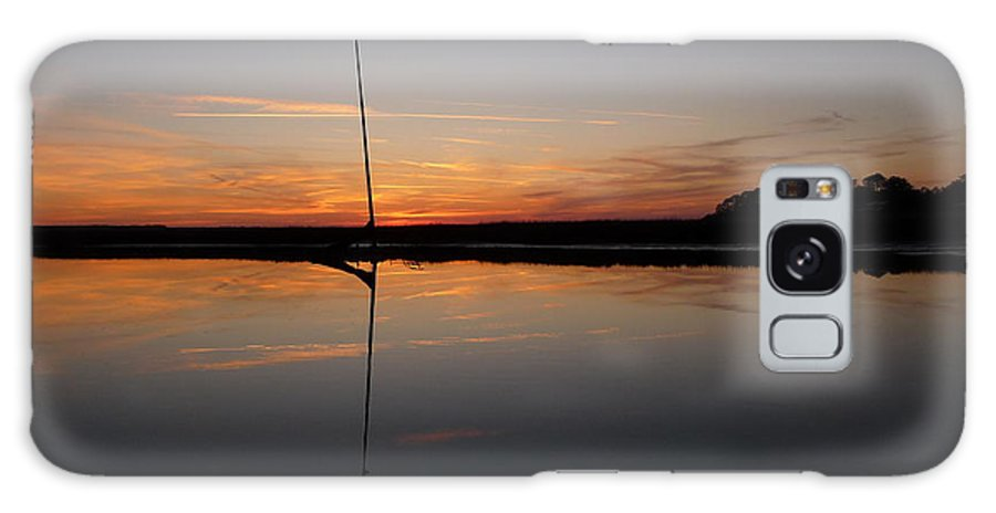 Sunset Galaxy S8 Case featuring the photograph Moored Near Saint Marys by Joel Deutsch