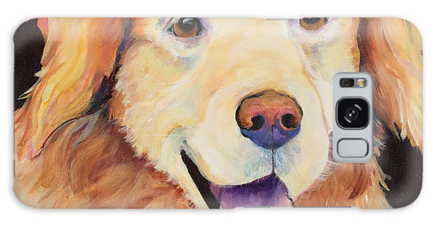 Pet Portraits Galaxy S8 Case featuring the painting Moose by Pat Saunders-White